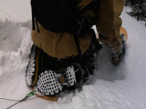 """surf-style """"paddle in"""" noboarding in Sorel boots"""