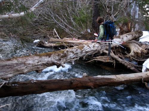 One of many crossings of this god-forsaken stream
